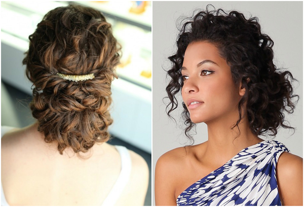 Bridal hairstyles for naturally curly hair picture
