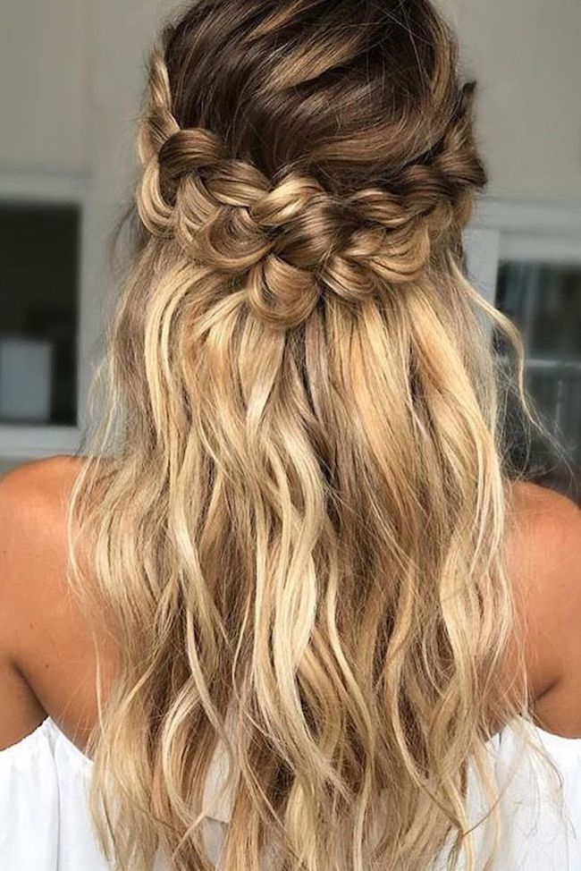 Half up wedding hairstyles for long hair 5 - TANIA MARAS | bespoke ...