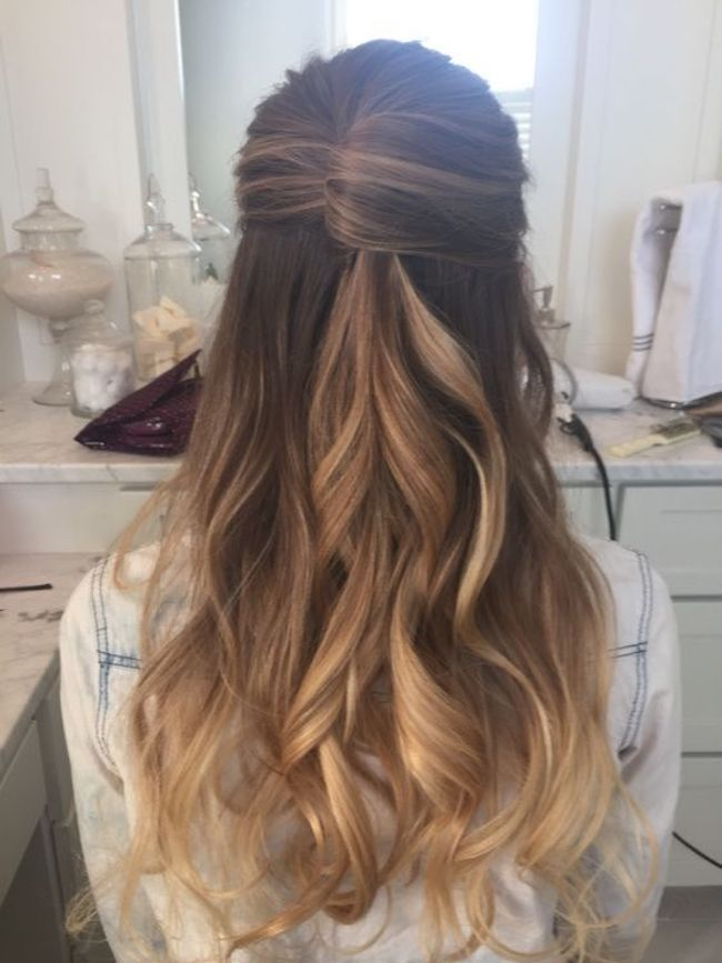 Half Up Wedding Hairstyles For Long Hair 6