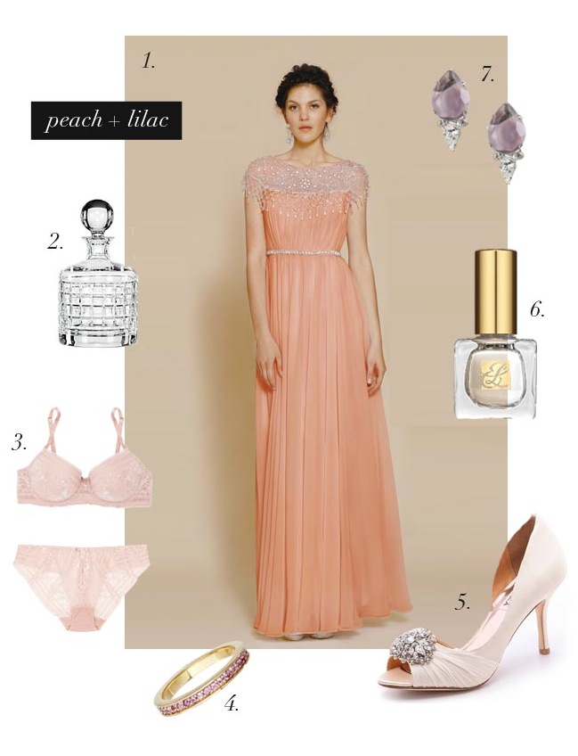 Peach and lilac wedding inspiration