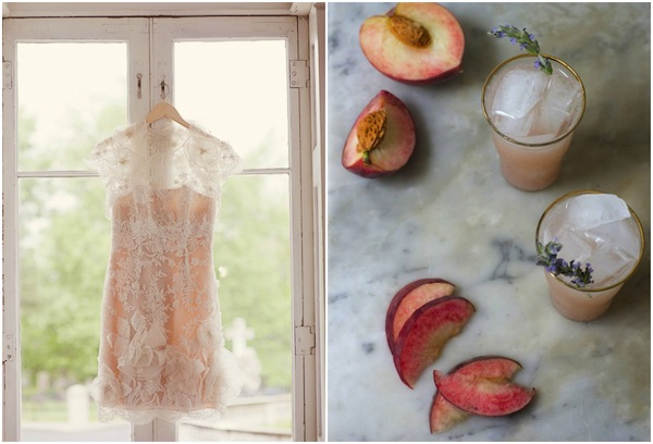 lilac and peach wedding inspiration