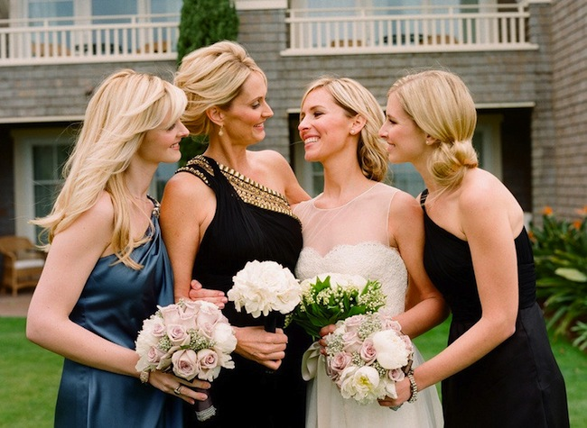 mismatched bridesmaids hairstyles