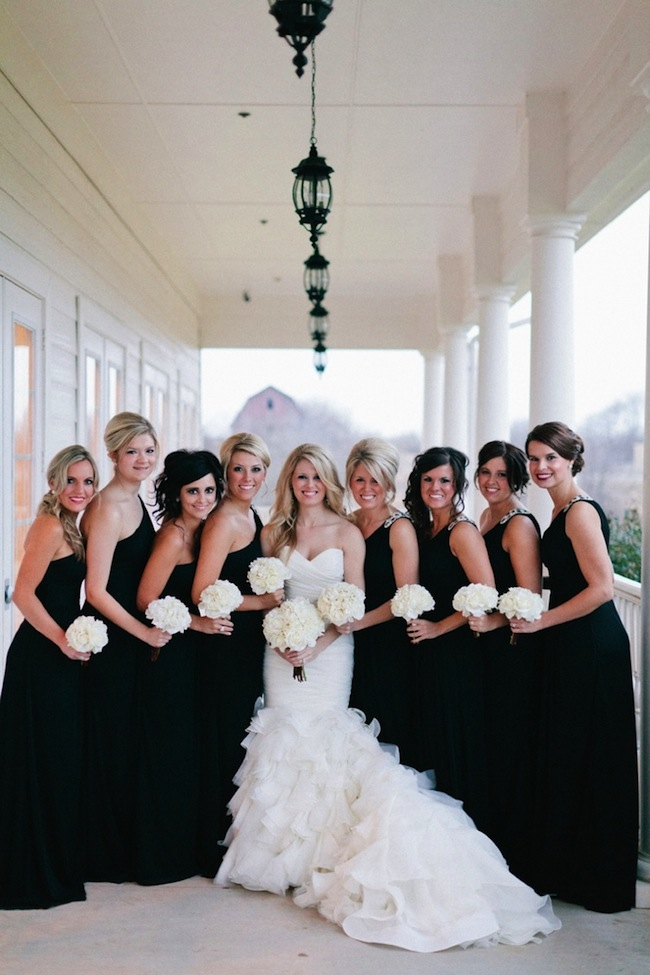 mix and match bridesmaids hair inspiration