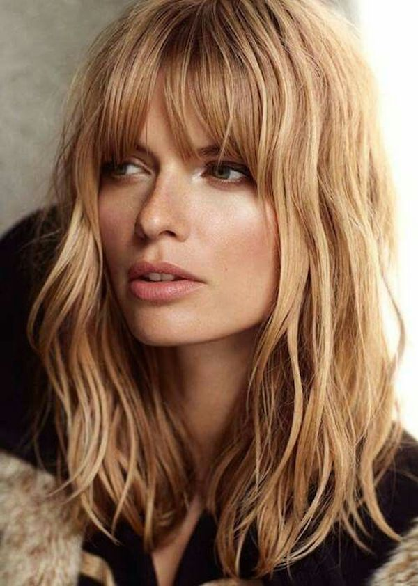 BRIDAL BANGS_loose waves with curtain bangs 5