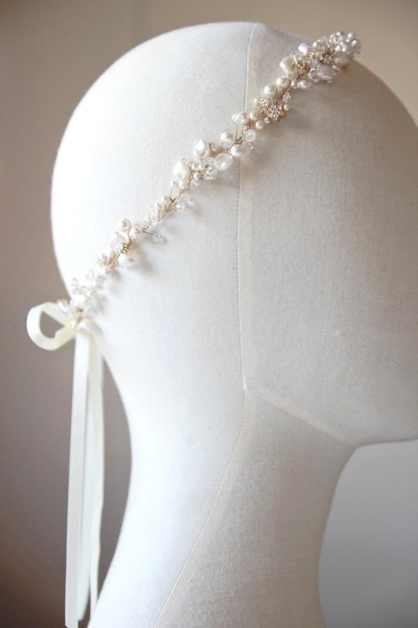 Pearl crystal bridal headband_5