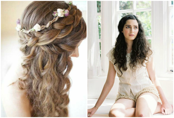 Naturally curly wedding hair_half up hairstyles 8