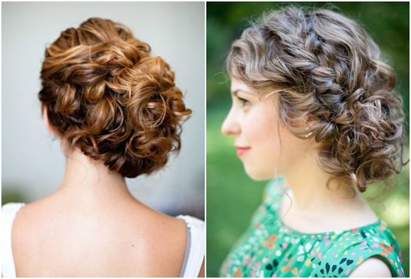 Naturally Curly Wedding Hair Updos 2