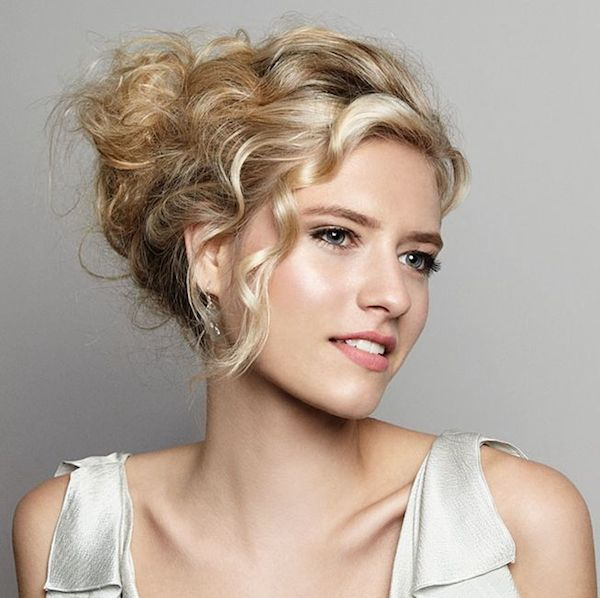 Naturally curly wedding hairstyles_updo 3