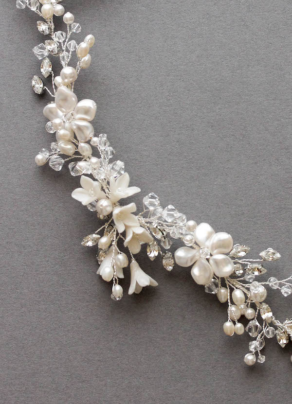 Bespoke for Hannah_ivory and silver bridal headpiece 2