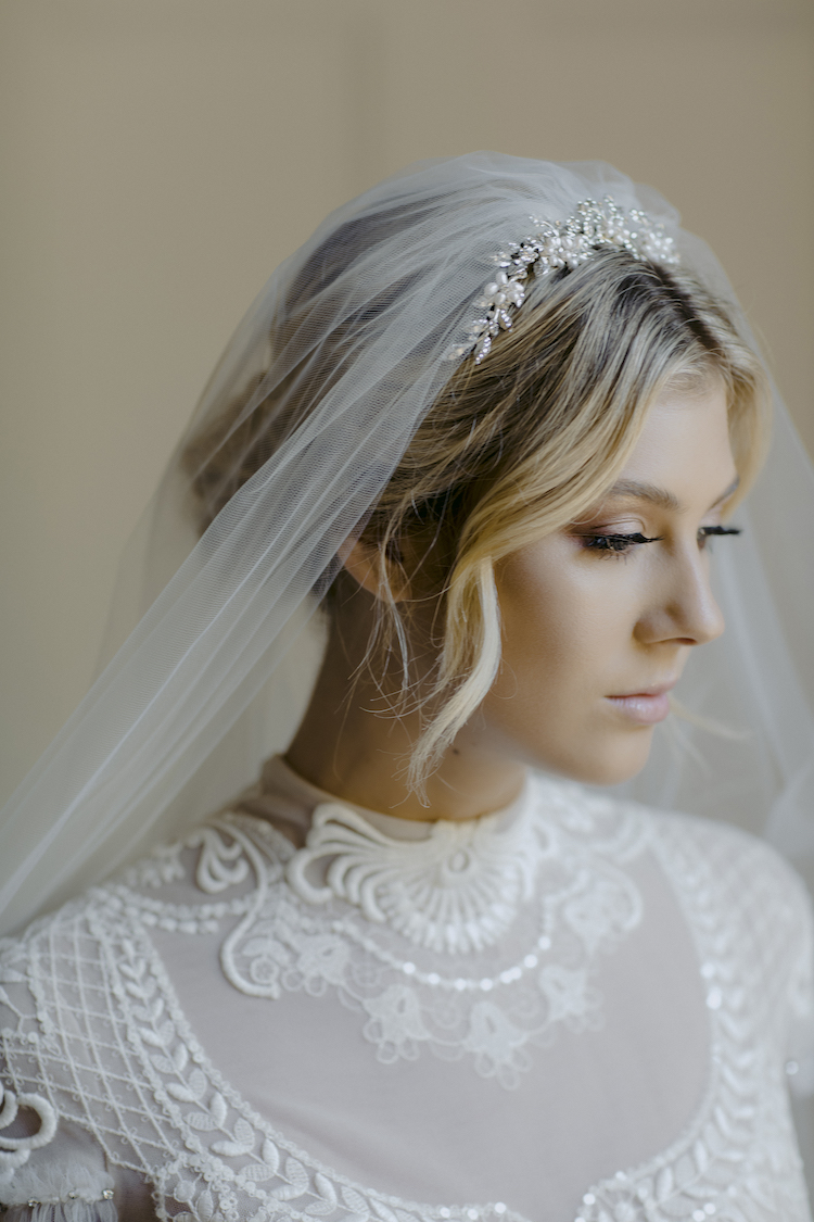 How to accessorise a lace wedding dress_crystal details