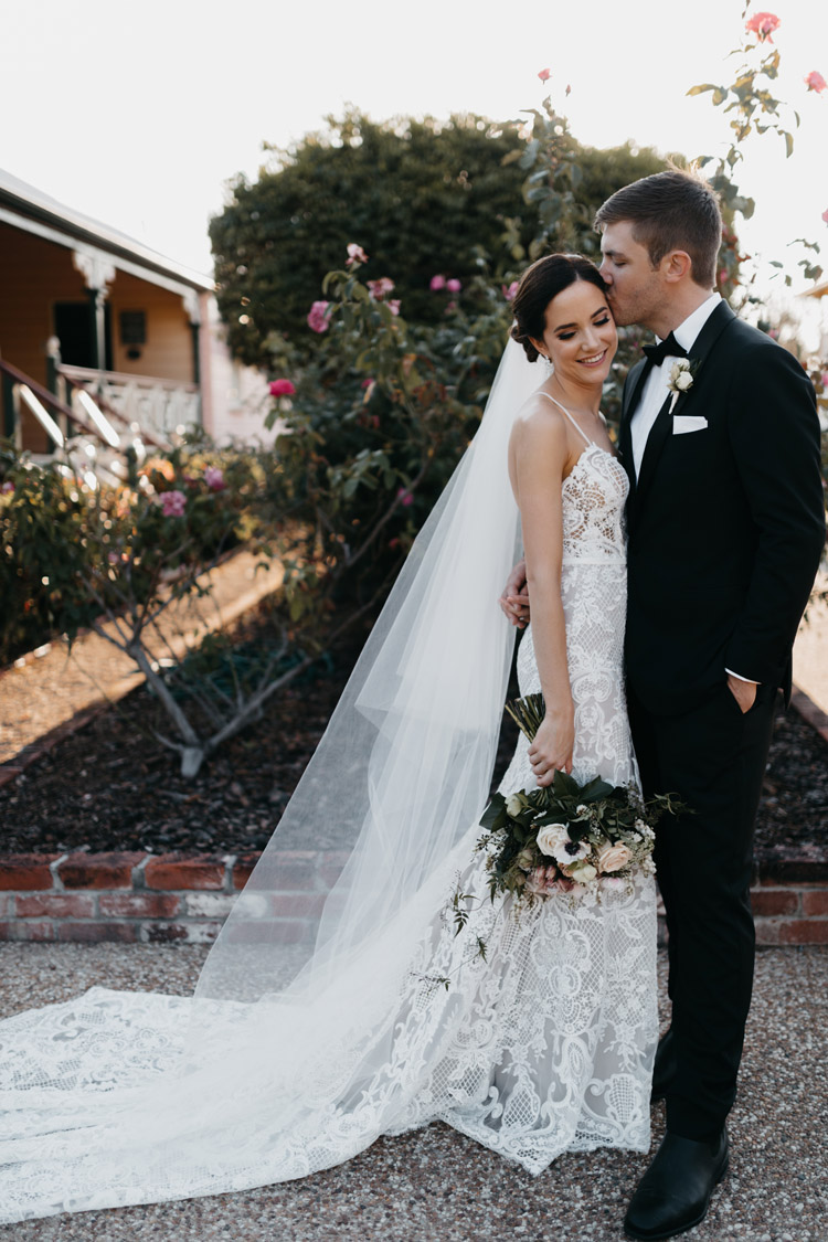 How to accessorise a lace wedding dress 25