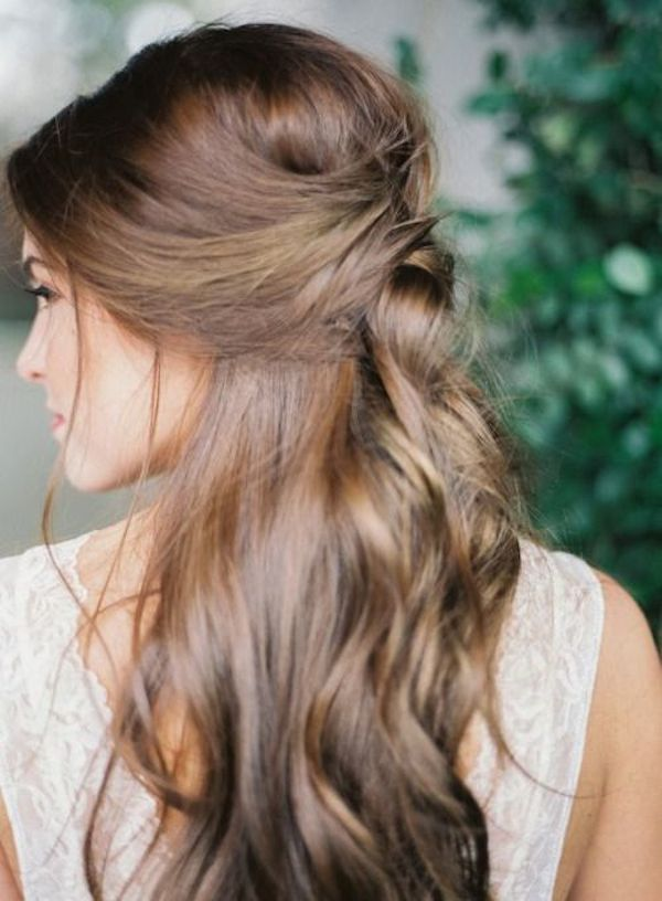 Half up wedding hairstyles 12