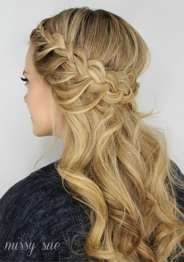 Half up wedding hairstyles 6