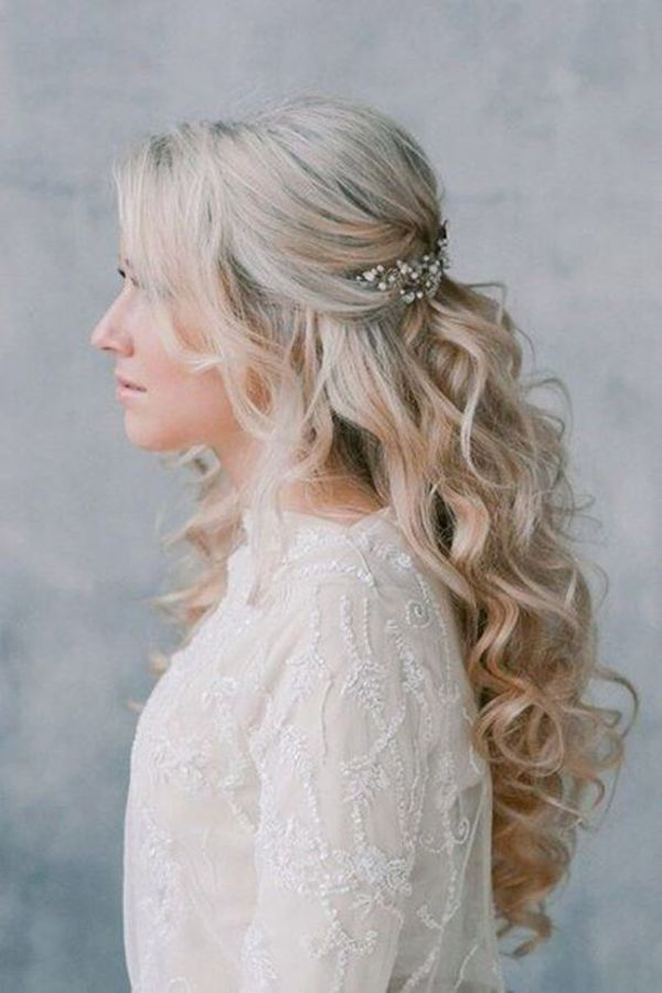 Half up Hair | 17 Half Up Wedding Hairstyles - TANIA MARAS | bespoke ...