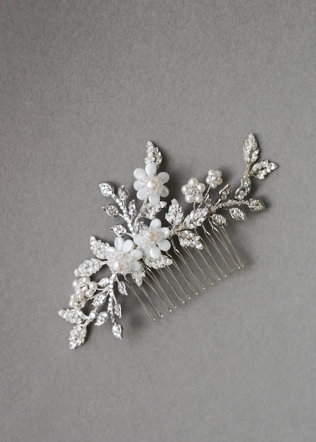 BESPOKE for Zenith_silver crystal bridal hair comb 1