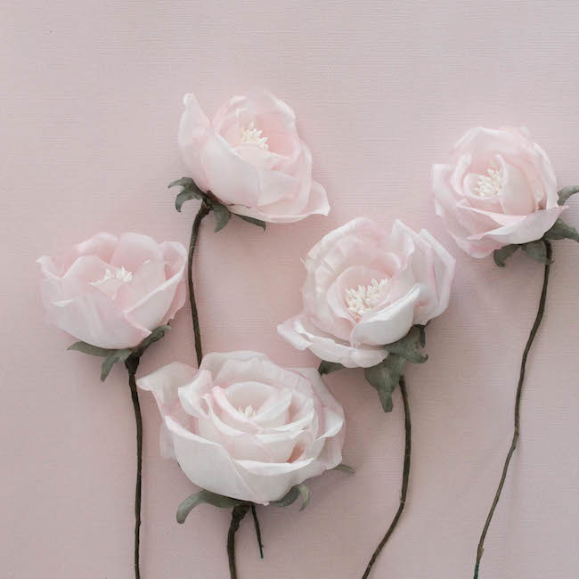 Ravishing roses soft pink silk flowers on the workbench tania soft pink silk flowerspercy handmade 4 mightylinksfo