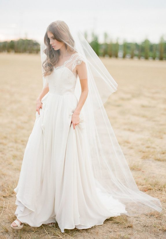 AMORA Chapel Veil With Blusher 1