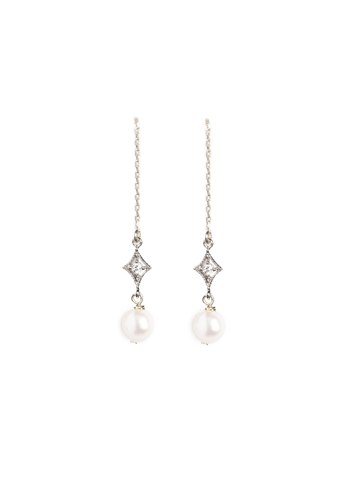 Products Home Earrings Nightingale Pearl Drop Bridal