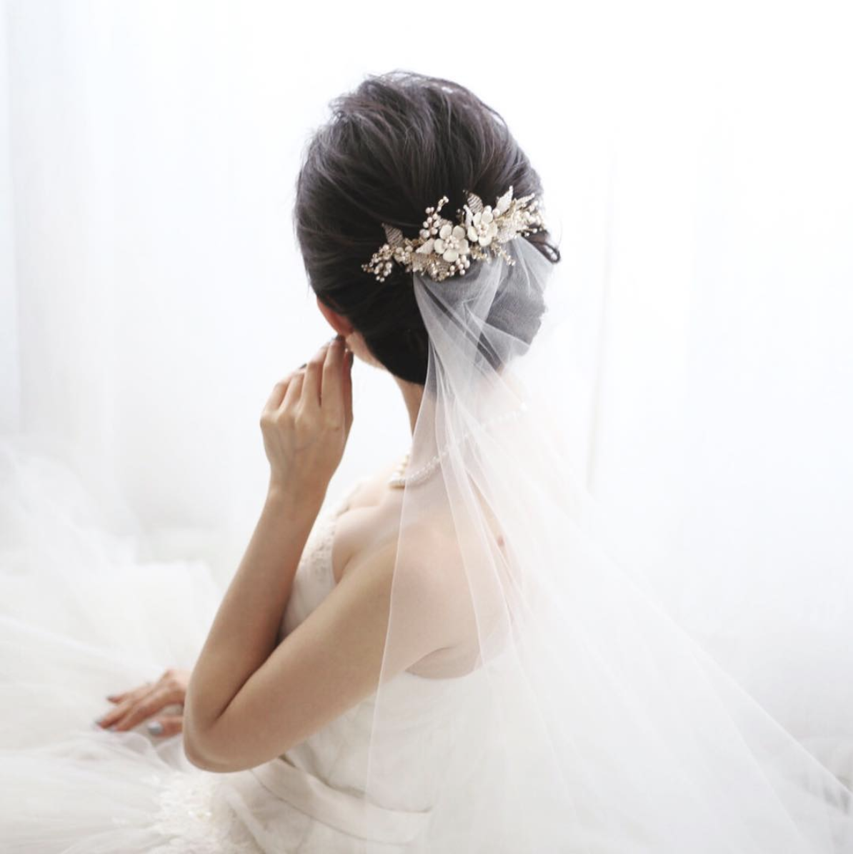 JASMINE | Floral Wedding Hair Comb - TANIA MARAS | bespoke wedding ...