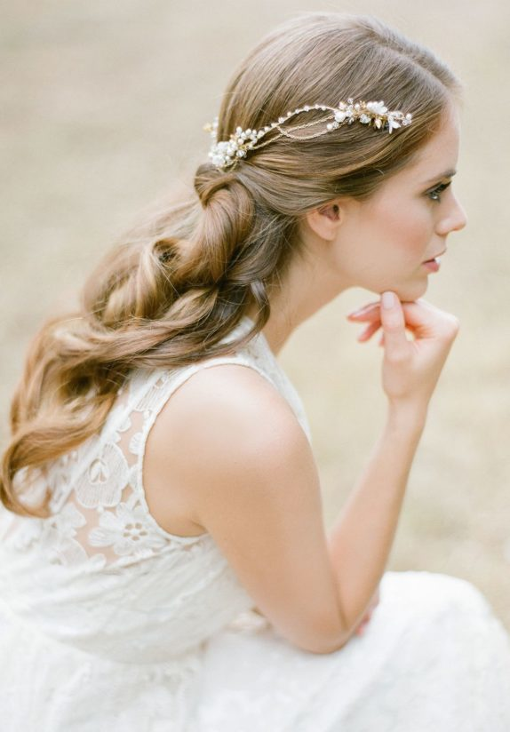 Boho Dream | A bespoke bohemian wedding headpiece for Nicole - JOLIE