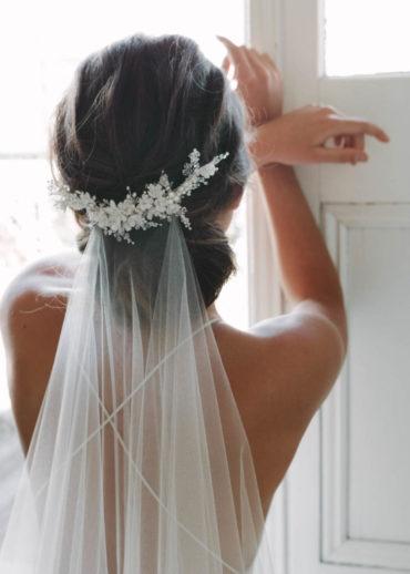 MARION floral bridal comb 1