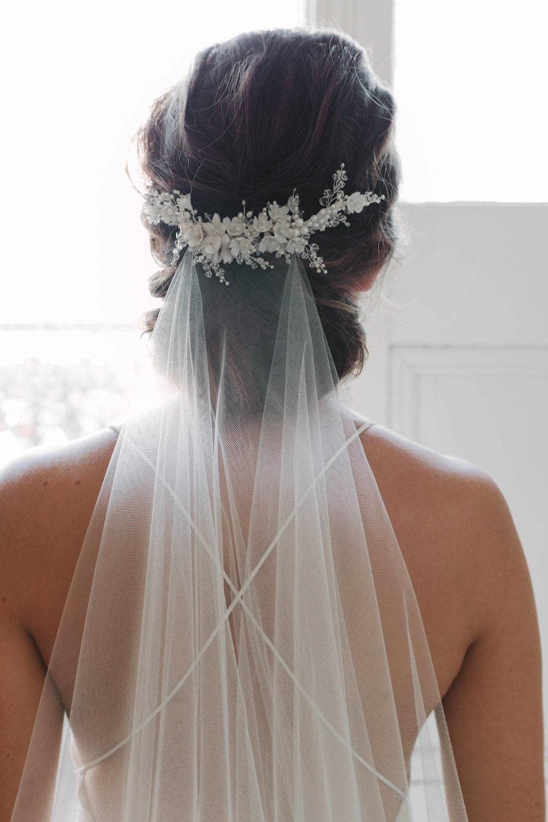 marion | delicate floral bridal comb - tania maras | bespoke wedding