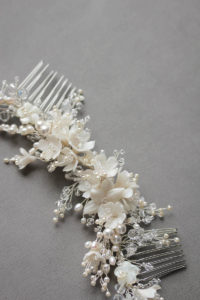 MARION ivory wedding headpiece - TANIA MARAS