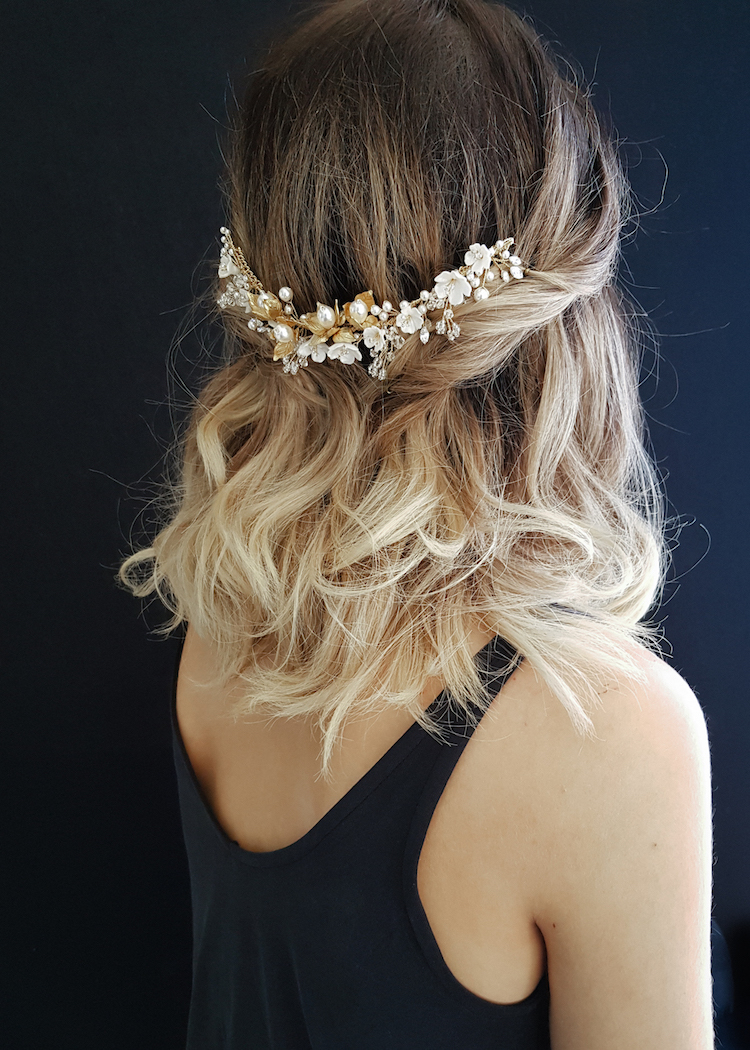 SOMERSET floral headpiece in gold 1
