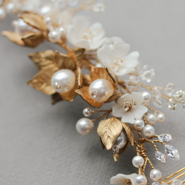 Somerset headpiece in gold