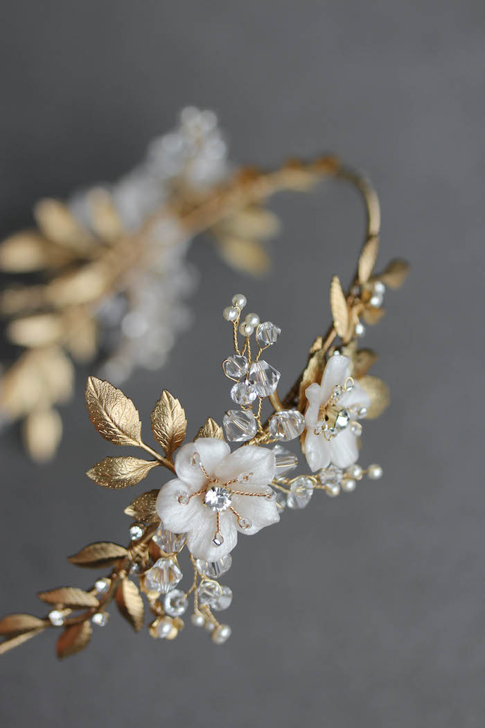 BESPOKE for Justyna_Dita Coco wedding crown headpiece 3