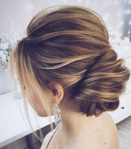 Wedding Updos For Long Hair In Style: The Updated French Twist Wedding Updo For