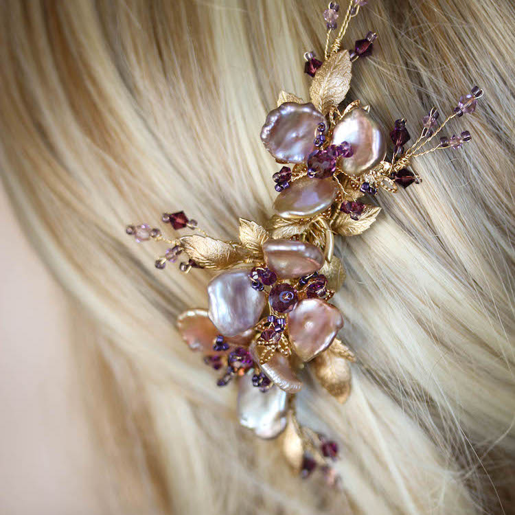 Bespoke-for-Audrey_gold-purple-orchid-hair-comb-5