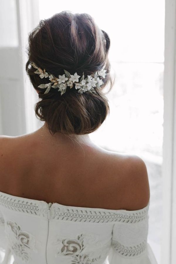 Low set wedding updos for wedding veils 1