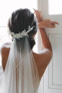 Low set wedding updos for wedding veils 13