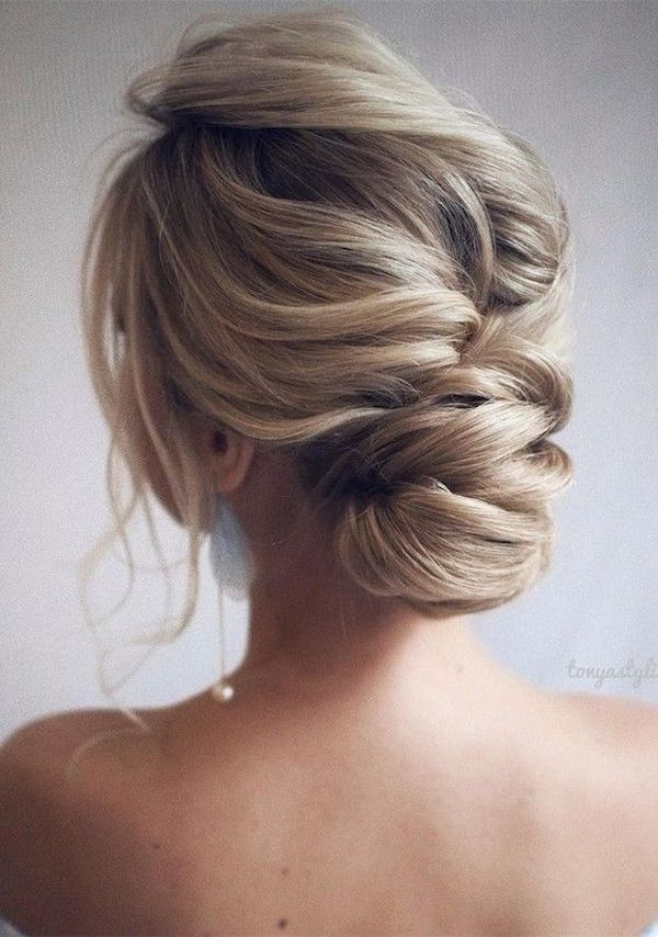 Low set wedding updos for wedding veils 7