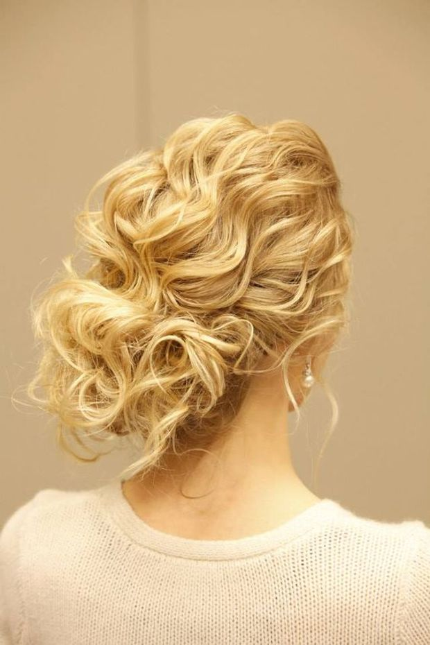 Curly hair updos you'll love