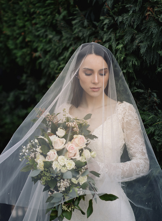 MARGAUX crystal chapel wedding veil 1