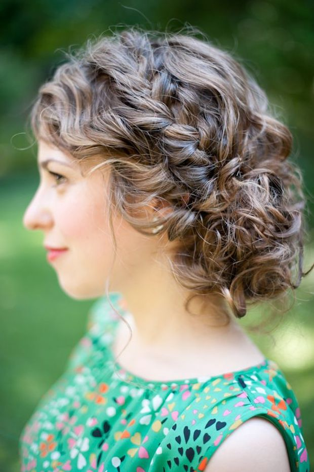 Naturally Curl Wedding Updo