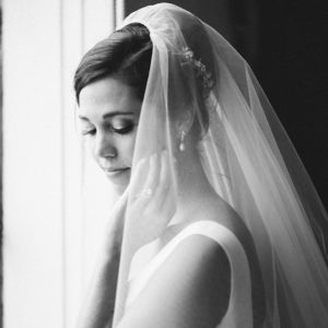 Wedding veil above the bun - TANIA MARAS BRIDAL 2