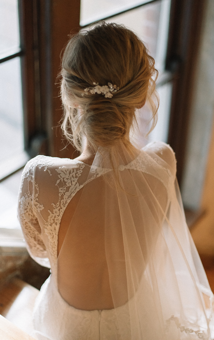 Wedding Veils Above Or Below The Bun