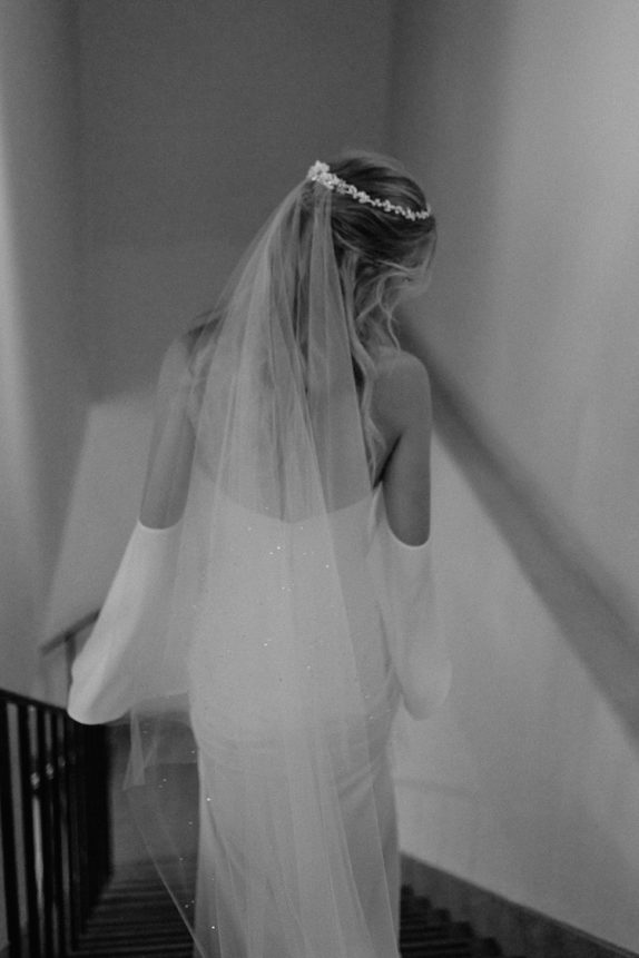 ETOILE chapel veil with crystals 4
