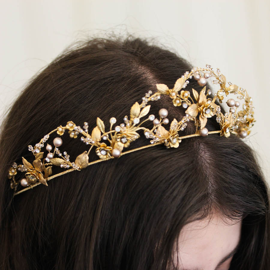 Fit for a Queen | A bespoke gold wedding crown for Alexandra