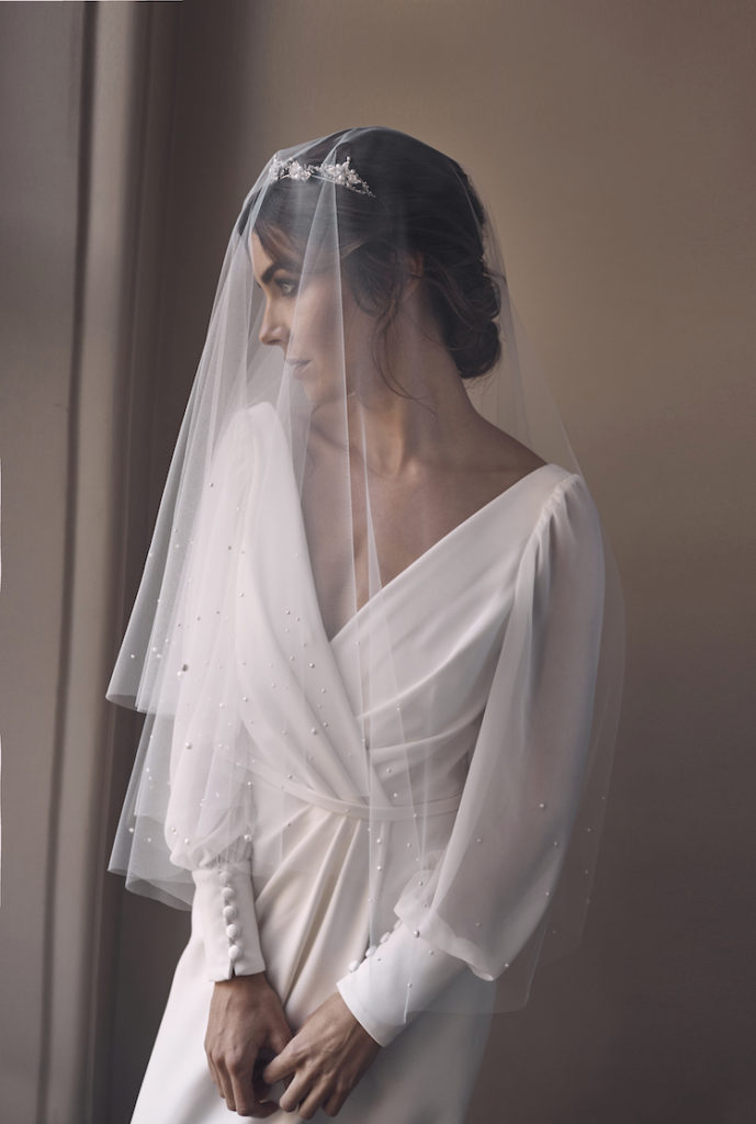 The Finer Details | Our favourite romantic and modern wedding veils - LUMIERE fingertip veil with pearls 1