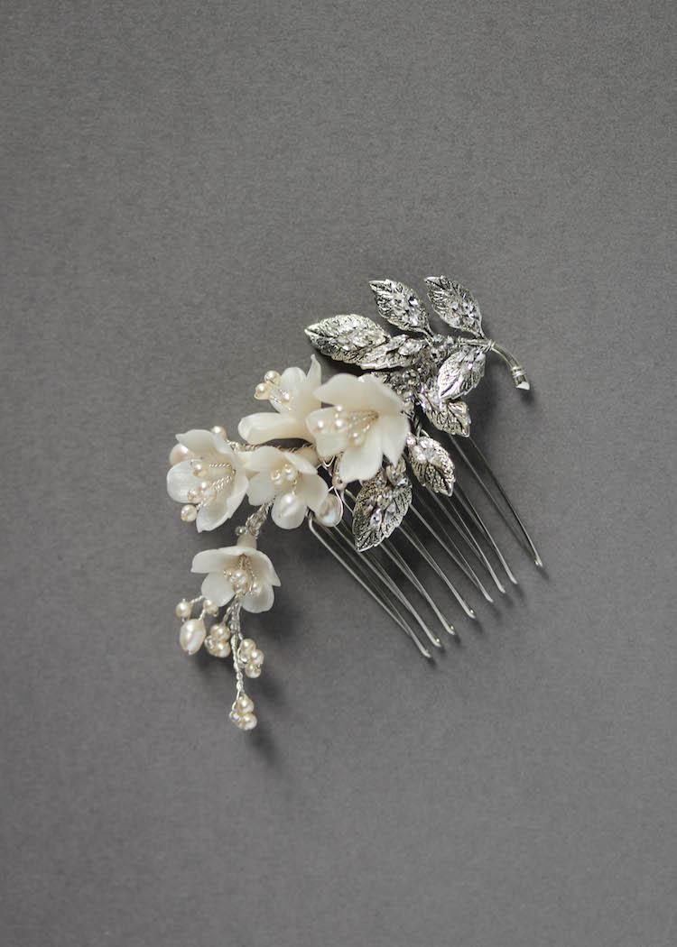 Marquise Side Wedding Comb Tania Maras Bespoke Wedding