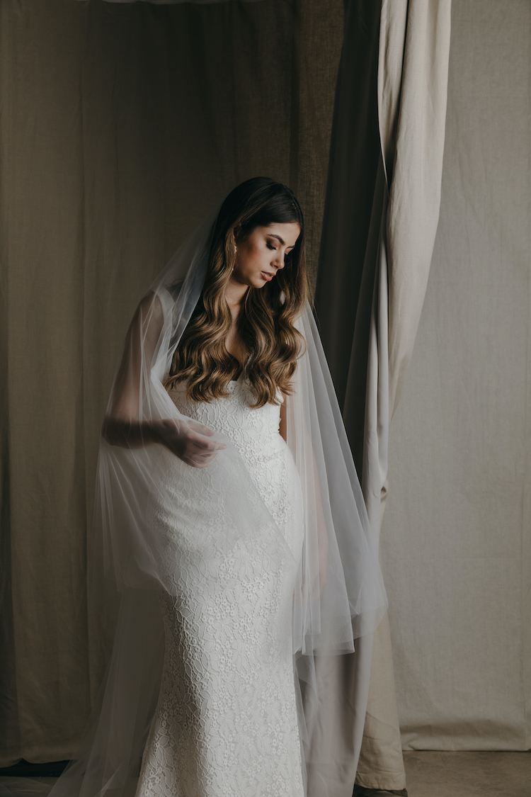 CAMILLE cathedral wedding veil 1