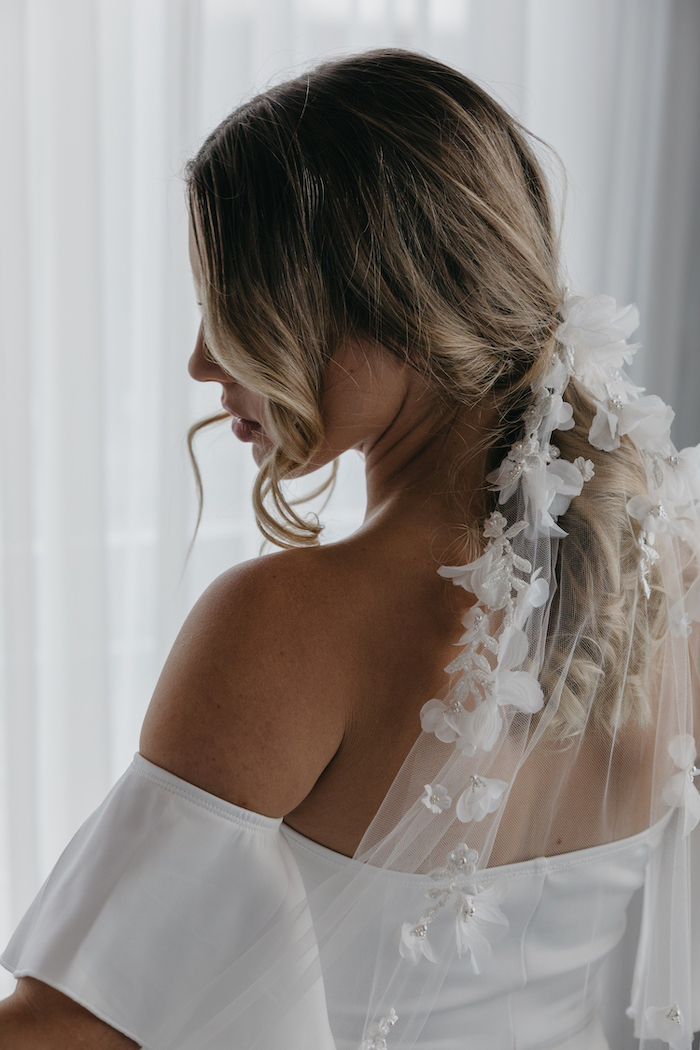 CATALINA floral bridal veil 9