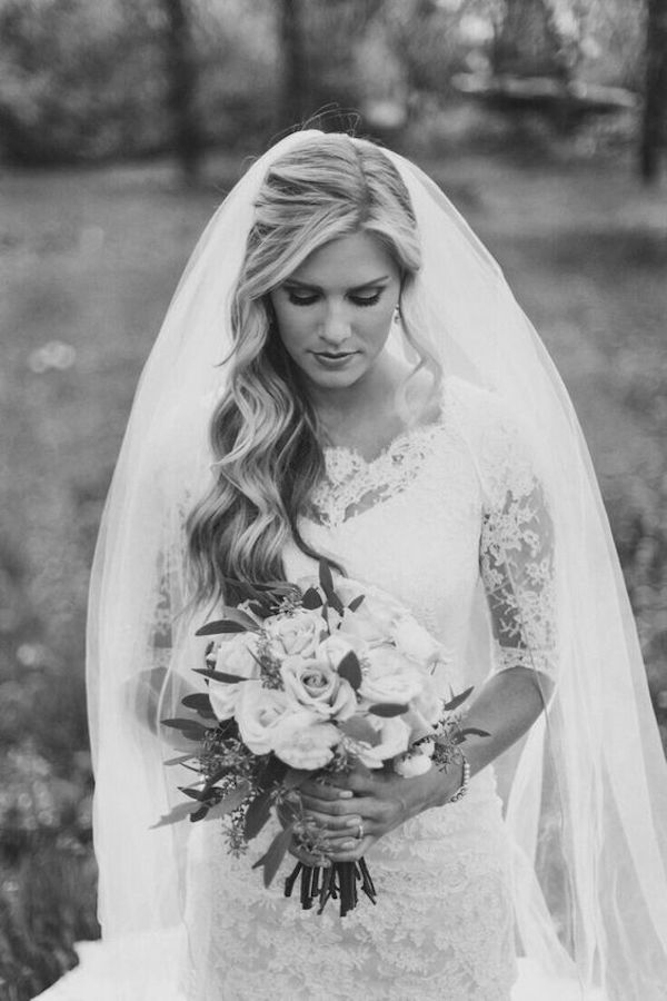 Top wedding hairstyles for bridal veils 3