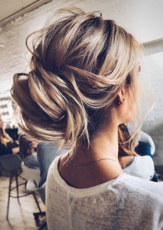 2018 bridal hairstyles - low set chignon