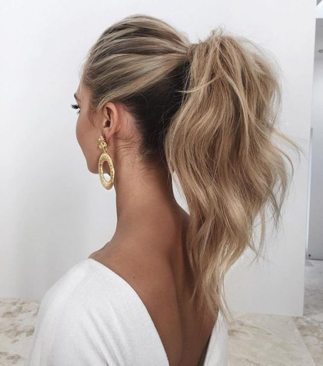 2018 wedding hairstyles_ponytail