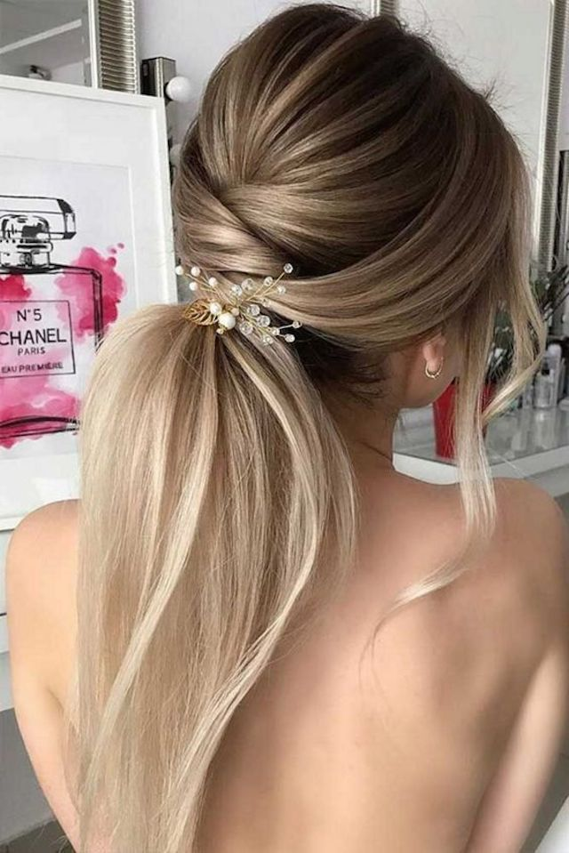 2018 wedding hairstyles_ponytail 2